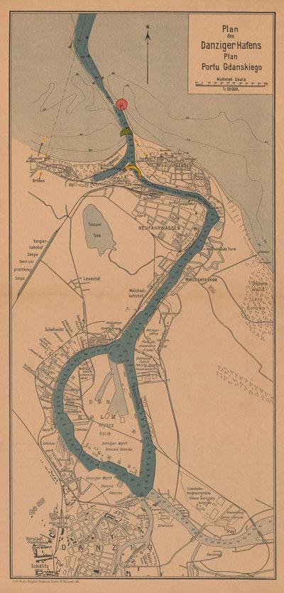 Plan des Danziger Hafens – plan portu Gdańskiego