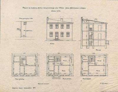 Projekt na budowę domu mieszkalnego dla w. pana Jana Hallmana w Gdyni