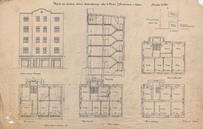 Projekt na budowę domu dochodowego dla W. Pana J. Skelnika w Gdyni