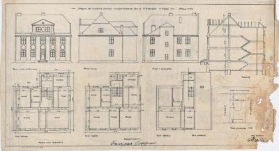 Projekt na budowę domu mieszkalnego dla p. Fr. Treppnera w Gdyni