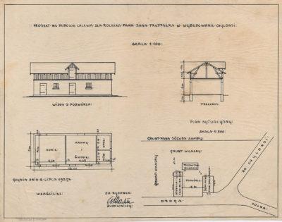 Projekt na budowę chlewa dla rolnika pana Jana Treppnera w Wybudowaniu -Chylonia
