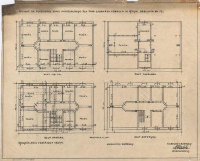 Projekt na rozbudowę domu mieszkalnego dla pana Leonarda Konkela w Gdyni, Oksywia nr 13