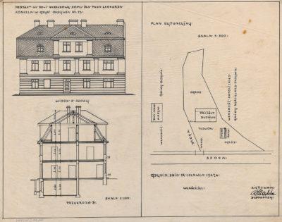 Projekt na do- i nadbudowę domu dla pana Leonarda Konkela w Gdyni Oksywia nr 13