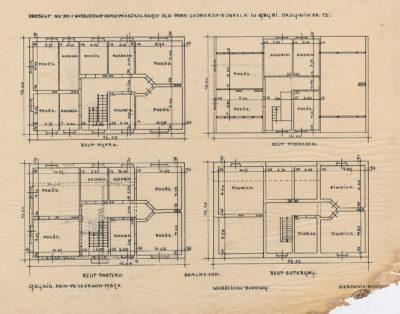 Projekt na do i nadbudowę domu mieszkalnego dla pana Leonarda Konkela w Gdyni Oksywia nr 13