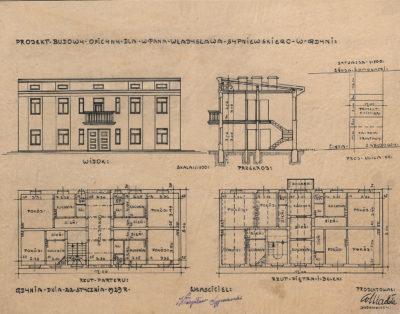 Projekt budowy oficyny dla w. pana Władysława Sypniewskiego w Gdyni