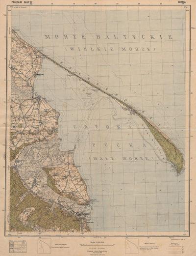 Mapa Gdynia, skala 1:100 000