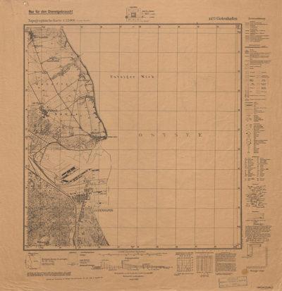 Mapa topograficzna: 1) Gotenhafen 1471; 2) Szaradowo 2971