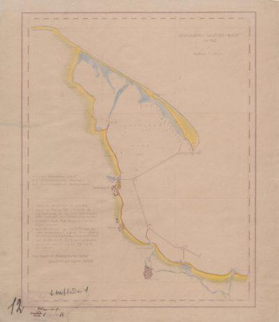 Mapa: Segelkarte d. Danziger- Bucht für 1943.