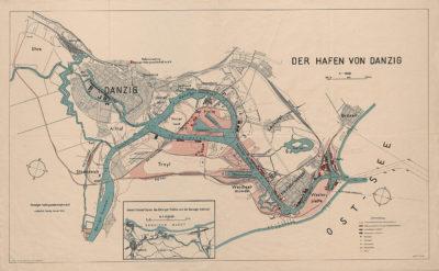 Plan: Der Hafen von Danzig.