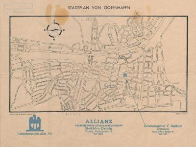 Stadtplan von Gotenhafen – plan Gdyni