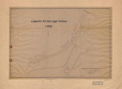 Plan sytuacyjny obozu na Grabówku