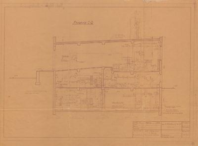 Plan budynku utylizacji, maszynowni i kotłowni rzeźni
