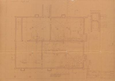 Plan piwnic w budynku utylizacji, maszynowni i kotlowni rzeźni