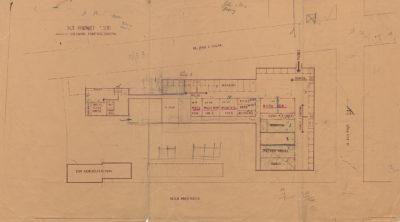 Plan piwnic Hal Targowych w Gdyni
