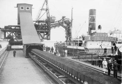 Taśmociąg do przeładunku węgla na nabrzeżu Duńskim