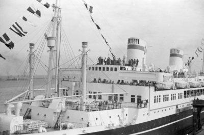 """Powitanie statku pasażerskiego m/s """"Piłsudski"""""""