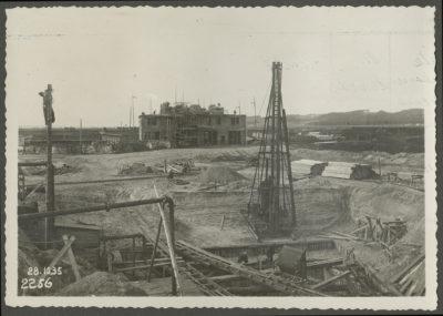 Plac budowy elektrowni parowej w Gdyni