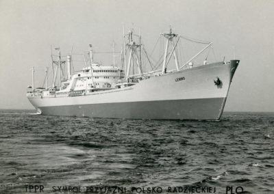 """Statek drobnicowiec m/s """"LENINO"""" na morzu"""
