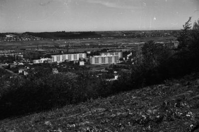 Gdynia Chylonia – widok ze zniesienia terenu na budowane osiedle mieszkaniowe przy Chylońskiej i Wejherowskiej