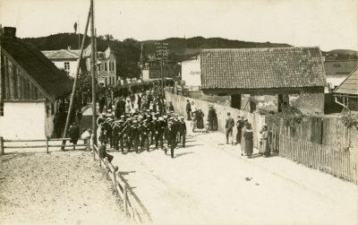 Orkiestra Marynarki Wojennej na ulicy Starowiejskiej