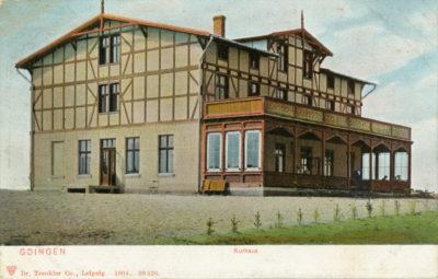 Kurhaus na obecnym skwerze Kościuszki w Gdyni