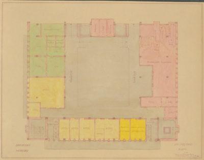 Plan sytuacyjny pierwszego piętra Dworca Morskiego w Gdyni