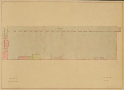 Plan sytuacyjny pierwszego piętra Magazyny Tranzytowego