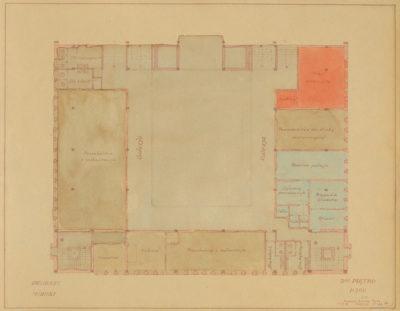 Plan sytuacyjny drugiego piętra Dworca Morskiego w Gdyni