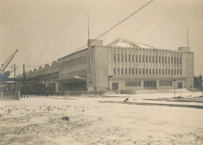 Dworzec Morski w Gdyni zimą