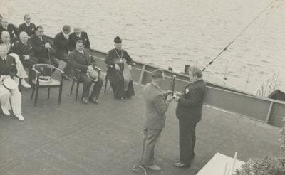 """Przemówienie podczas uroczystości poświęcenia statku """"Robur VIII"""" na pokładzie"""