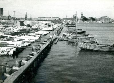 Łodzie rybackie przy nabrzeżu Rybnym
