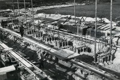 Wczesny etap budowy stacji pomp