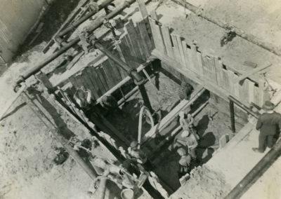 Wykop pod budowę studni artezyjskiej