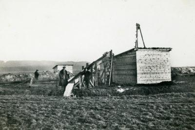 Budowa głównego ujęcia wody dla Gdyni w Rumi – baraki