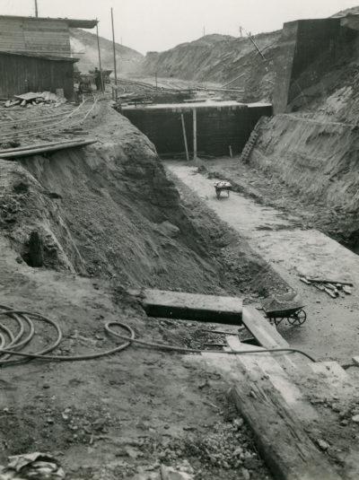Budowa magazynów paliw płynnych na Oksywiu – wykop