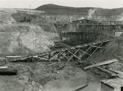 Etap budowy podziemnych magazynów na Oksywiu