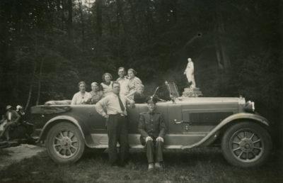 Samochód osobowy marki Fiat 519 B Torpedo przy Źródle Marii
