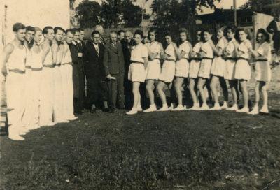 """Członkowie Towarzystwa Gimnastycznego """"Sokół"""" w Gdyni Chyloni"""