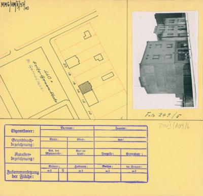 Karta ewidencyjna budynku na Placu Górnośląskim 14