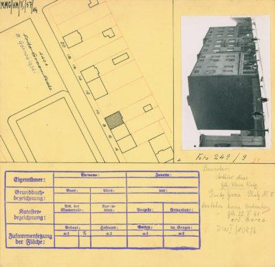 Karta ewidencyjna budynku na Placu Górnośląskim 8