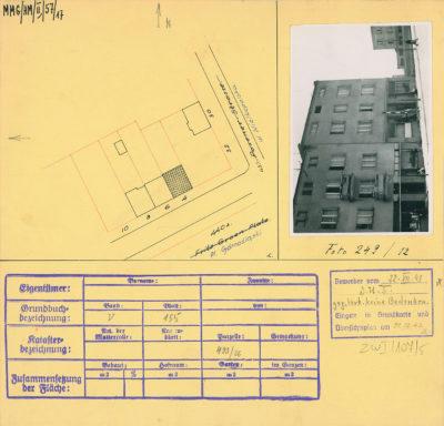 Karta ewidencyjna budynku na Placu Górnośląskim 4