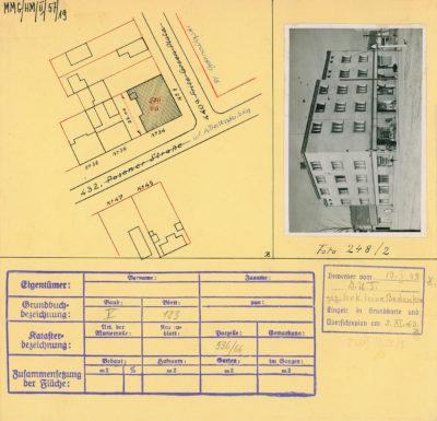 Karta ewidencyjna budynku na Placu Górnośląskim 1