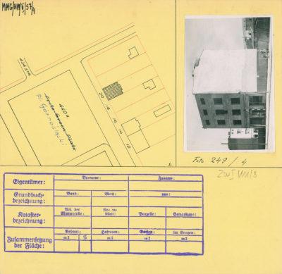 Karta ewidencyjna budynku na Placu Górnośląskim 20