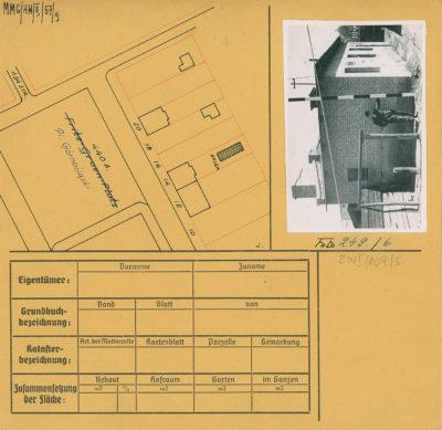 Karta ewidencyjna budynku na Placu Górnośląskim 14N