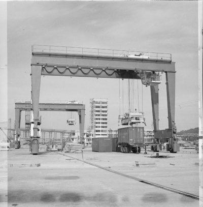 Budowa Bazy Kontenerowej w Gdyni – próba suwnicy