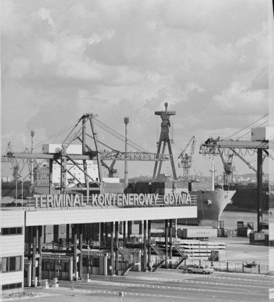 Baza Kontenerowa w Gdyni – główna brama wjazdowa na teren bazy