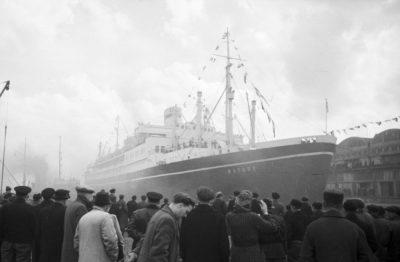 "Return of the ""Batory"" ship to Gdynia."