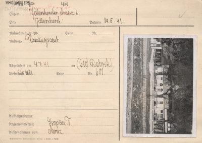 Karta ewidencyjna budynku przy ul. Orłowskiej 8