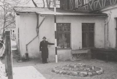 Fotografia parterowej dobudówki do budynku przy ulicy Orłowskiej 8