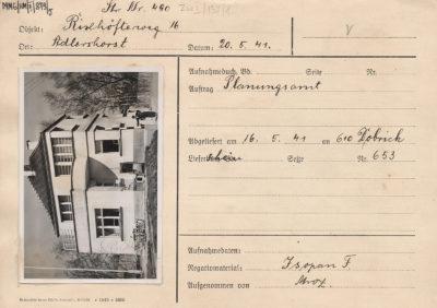 Karta ewidencyjna budynku przy ulicy Popiela 16